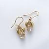 .98ctw Oval Rose Cut Diamond Earrings With Leaf Motif 4