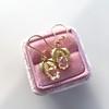 .98ctw Oval Rose Cut Diamond Earrings With Leaf Motif 1