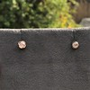 .84ctw Old Mine Cut Clover Stud Earrings, Rose Gold 2