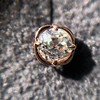 .84ctw Old Mine Cut Clover Stud Earrings, Rose Gold 3