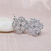 Snowflake-Motif Diamond Earrings 5