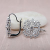 Snowflake-Motif Diamond Earrings 4