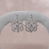 Snowflake-Motif Diamond Earrings 2