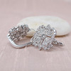 Snowflake-Motif Diamond Earrings 3
