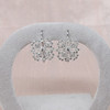 Snowflake-Motif Diamond Earrings