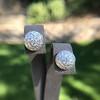 2.20ctw Diamond Dome Pave Stud Earrings 24