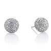 2.20ctw Diamond Dome Pave Stud Earrings 0