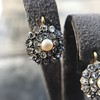 Victorian Pearl and Rose Cut Diamond Cluster Earrings 9