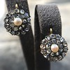 Victorian Pearl and Rose Cut Diamond Cluster Earrings 12