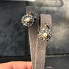 Victorian Pearl and Rose Cut Diamond Cluster Earrings 10