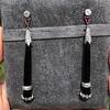 Vintage Onyx, Diamond, and Ruby Long Drop Earrings