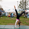 4/23/16 TOWNSEND--Kaely Turgeon of Townsend put's on a demonstration hosted by Pure Energy Gymnastics in Pepperell on Saturday at the 2016 Earth Day Celebration in Townsend. (Photo/Jeff Porter)