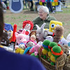 2/23/16 TOWNSEND--An assortment of dolls hand made by the Dunstable Seniors displayed at Saturdays Earth Day Celebration in Townsend.  Woman shown behind is Patricia McNerney. (Photo/Jeff Porter)