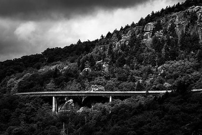 Linn Cove Viaduct in Black and White