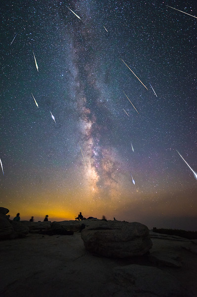 Perseid Meteor Shower in Yosemite National Park