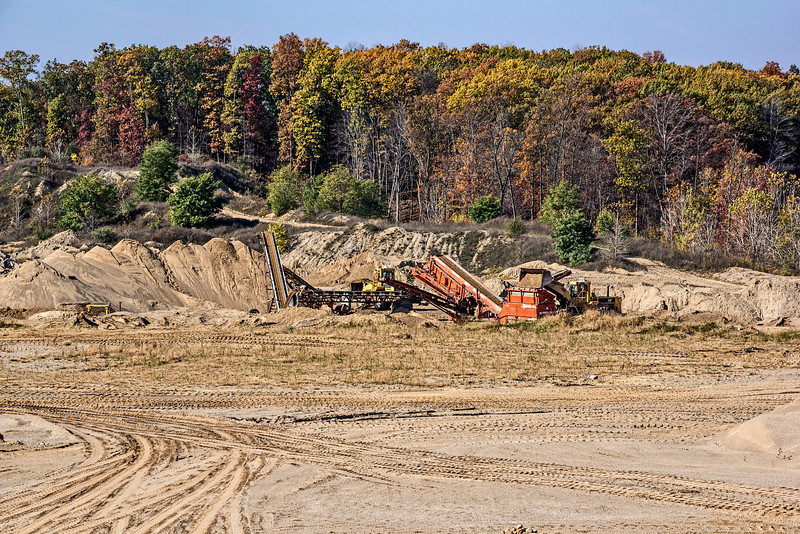 Sand quarry, southeast Michigan