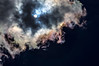 Iridescent cloud fringes
