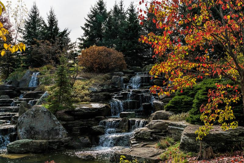 Waterfall, natural looking, but man-made
