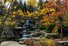 Natural looking man-made waterfall