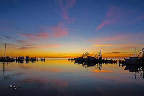 Sunrising at Fulton Harbor