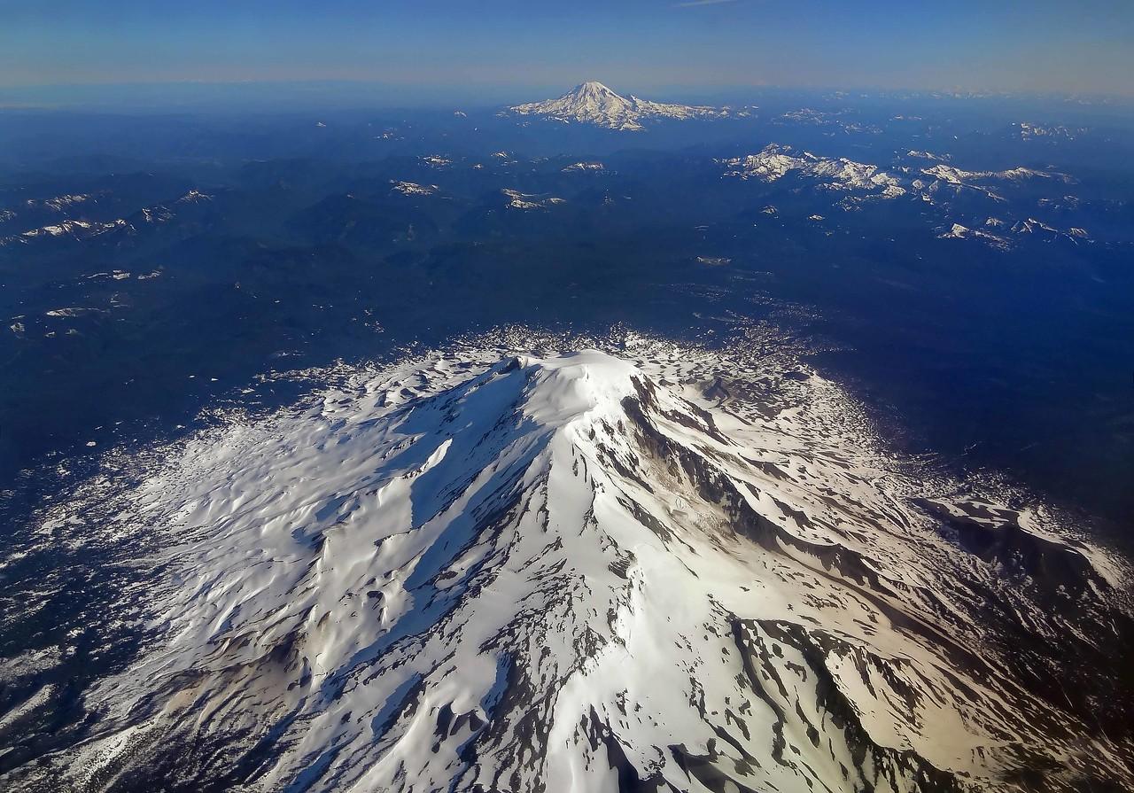 Mt Adams and Mt Rainier - Washington