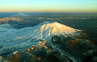 Mt St. Helens and Mt Adams - Washington