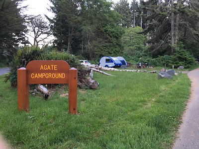 Our campsite at Patricks Point State Park just outside of Redwoods National Park
