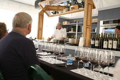 BEAVER CREEK, CO - Cooking and wine tasting demonstration with Executive Chef Steve Topple.