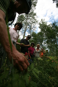 BEAVER CREEK, CO - Along the Walk & Wine Luncheon in the Aspen Grove with guide Nick Fickling.