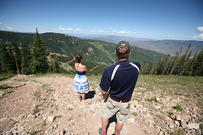 BEAVER CREEK, CO - Jeep Ride: The view from The Brink.