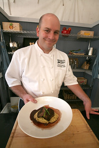 BEAVER CREEK, CO - Executive Chef Steve Topple shows his Brazed Beef Shortrib and mustard polenta dish.
