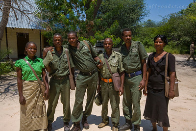 KWANDO CONSERVENCY, NAMIBIA - Game Guards of the Community Based Natural Resource Management program