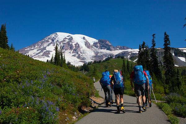 Mt. Rainier Mountaineering School w Peter Whittaker & Melissa Arnot
