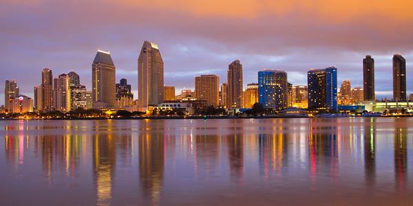 """""""San Diego Skyline"""", Panorama format, 2:1"""