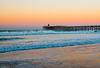 Crystal Pier pre sunrise with earth shadow on the horizon