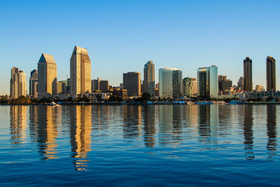 The San Diego skyline as seen from Coronado