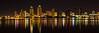 The San Diego skyline as seen from Coronado.Panorama format 1:3