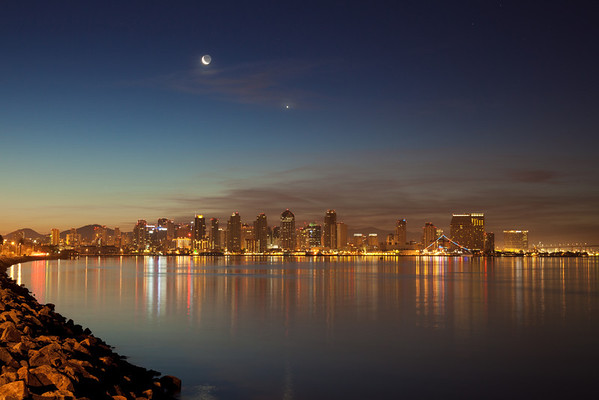 San Diego Skyline at Dawn from Harbor Island