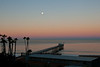 Sunrise, with earth shadow & the full moon over Scripps Institute.