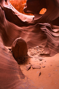 Erosion Sculptured Sandstone, Lower Antelope Canyon