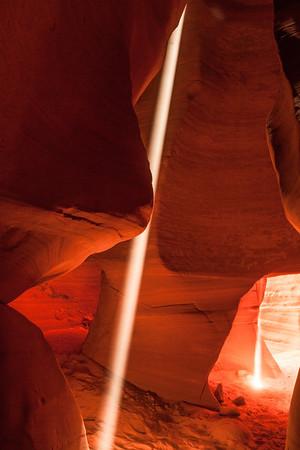 Light Beams, Canyon X near Page Az.