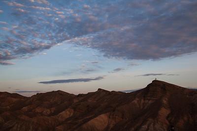 Photographer at sunrise, Death Valley Nat. Park