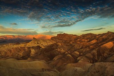 Zabriskie Point at sunrise, Death Valley Nat. Park