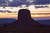 Mitchell Butte, just outside of Monument Valley at sunset