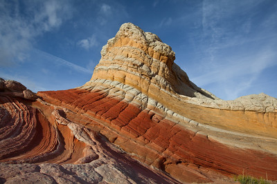 Lollipop, colorful sandstone swirls, White Pocket, Paria Canyon/Vermilion Cliffs Wilderness