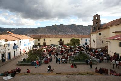 CUSCO, PERU - San Blas market.