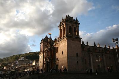 CUSCO, PERU - Plaza de Armas cathedral.