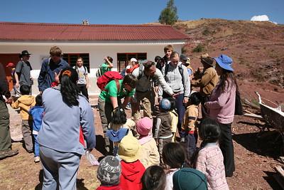 MISKIUNO, CUSCO, PERU - DiscoveryBound's 2014J NLC class meets the community of Miskiuno.