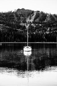 Huntington Lake, California with China Peak in the background