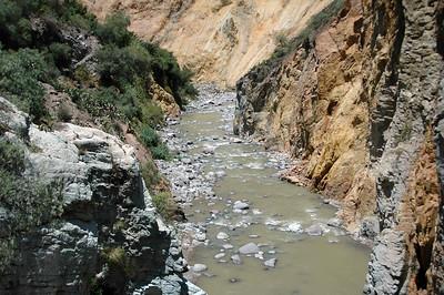 COLCA CANYON, PERU: Down river, Rio Colca - Colca River.